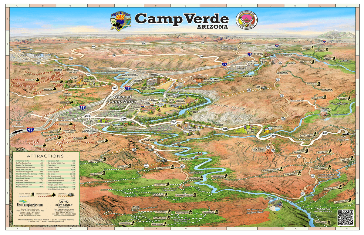 camp verde trail map